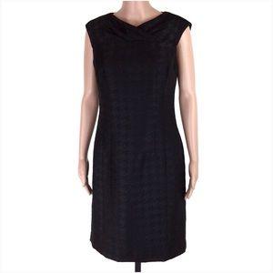 Worthington Black Houndstooth Sheath Dress Size 8